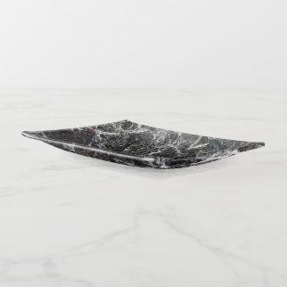Bandejas Obscuridade elegante - pedra de mármore cinzenta