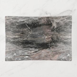 Bandejas Pedra de mármore cinzenta manchada