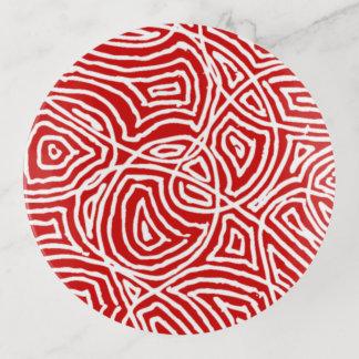 Bandejas Scribbleprints vermelho