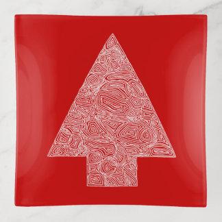 Bandejas Vermelho da árvore de Natal