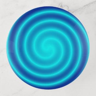Bandejas Vertigem azul de espiralamento