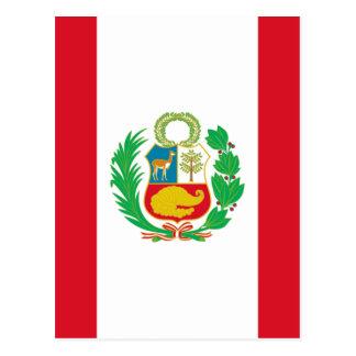Bandera del Perú - bandeira de Peru Cartão Postal