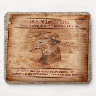 Banish lamas do drama - Mousepad
