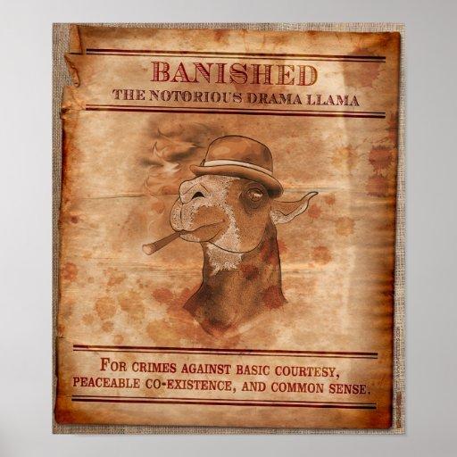 "Banish os lamas do drama - 12"" x 14"" poster"