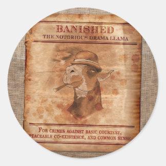 Banish os lamas do drama - 3 etiquetas adesivo