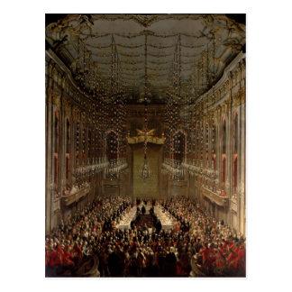 Banquete no Redoutensaal, Viena, 1760 Cartão Postal