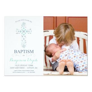 Baptismo da foto, convite do batismo - bebé