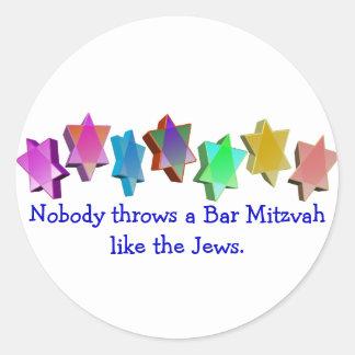 Bar/bastão Mitzvah Adesivo