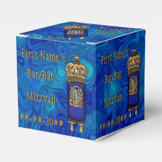 Bar-Bastão Mitzvah Torah no mármore azul Caixinha De Lembrancinhas Para Festas