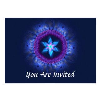 Bar Cor-de-rosa-Azul de Magen/bastão Mitzvah Convite Personalizado