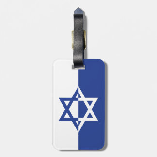 Bar costume azul e branco de Mitzvah da estrela de Etiqueta De Bagagem