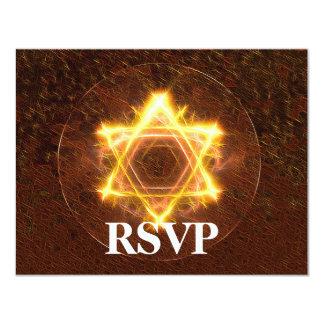 Bar de Starfire/bastão Mitzvah RSVP Convite 10.79 X 13.97cm