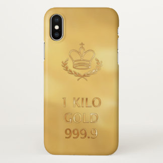 Bar do lingote de ouro capa para iPhone x