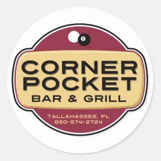 Bar e grade de canto do bolso adesivo