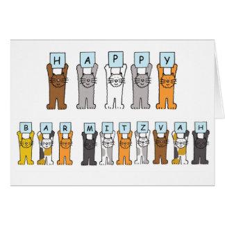 Bar feliz Mitzvah dos gatos Cartão