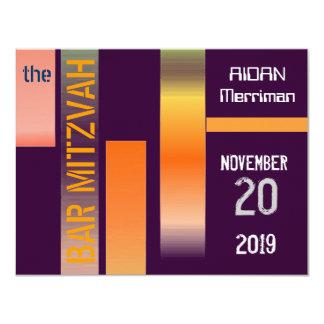 Bar metálico Mitzvah de Mitzvah do bastão das Convites
