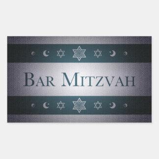 Bar Mitzvah Adesivo Retangular