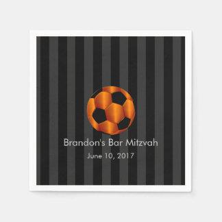 Bar Mitzvah alguma bola de futebol alaranjada da l Guardanapos De Papel