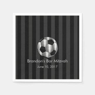 Bar Mitzvah alguma bola de futebol da prata da lis Guardanapos De Papel