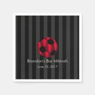 Bar Mitzvah alguma bola de futebol vermelha da lis Guardanapo De Papel