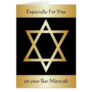 Bar Mitzvah Cartão Comemorativo