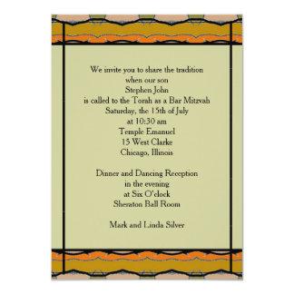 Bar Mitzvah Convite 11.30 X 15.87cm