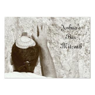 Bar Mitzvah/convite Mitzvah do bastão Convite 12.7 X 17.78cm