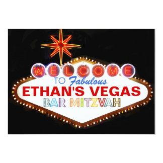 Bar Mitzvah de PixDezines Las Vegas Convite 12.7 X 17.78cm