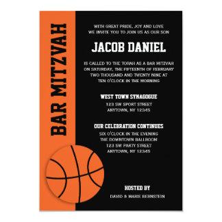 Bar Mitzvah do basquetebol Convite 12.7 X 17.78cm