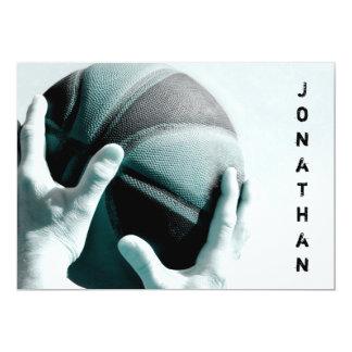 Bar Mitzvah do basquetebol do vintage Convite 12.7 X 17.78cm