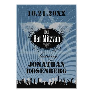 Bar Mitzvah do clube no azul Convite 12.7 X 17.78cm