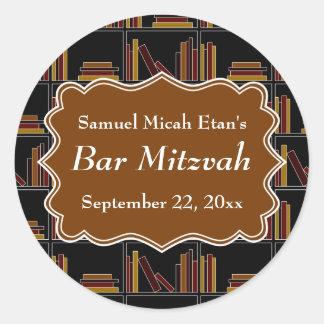 Bar Mitzvah do design da estante de Brown Adesivo