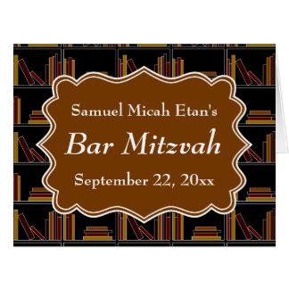 Bar Mitzvah do design da estante de Brown Cartão Comemorativo Grande