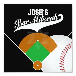 Bar Mitzvah do diamante de basebol de PixDezines Convite Quadrado 13.35 X 13.35cm