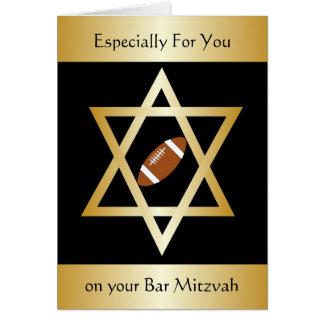 Bar Mitzvah do futebol americano Cartão Comemorativo