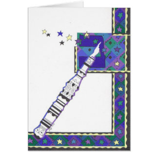 Bar Mitzvah do ponteiro de Torah Cartão Comemorativo