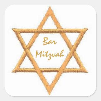Bar Mitzvah/estrela de David Adesivo Quadrado