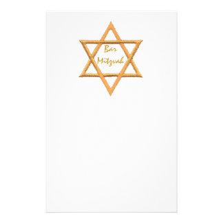 Bar Mitzvah/estrela de David Papelaria
