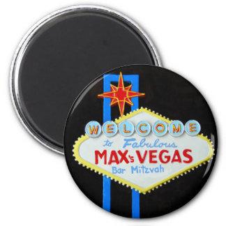 Bar Mitzvah Las Vegas personalizado Ímã Redondo 5.08cm