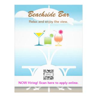 Bar perto da praia do modelo do insecto modelos de panfleto