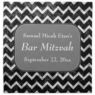 Bar preto e branco Mitzvah de Chevron do teste pad Guardanapo