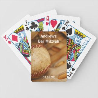 Bar temático Mitzvah do basebol Baralhos De Cartas