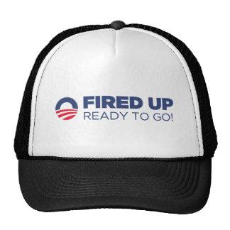 Barack Obama ateou fogo acima a pronto para ir Boné