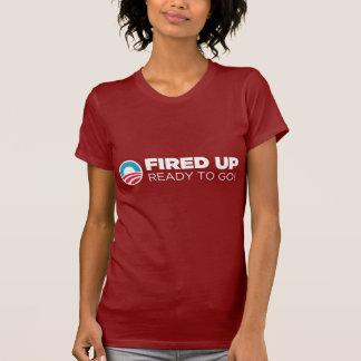 Barack Obama ateou fogo acima a pronto para ir Camiseta