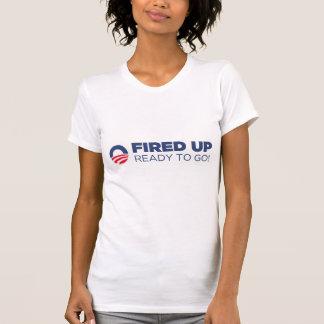 Barack Obama ateou fogo acima a pronto para ir Camisetas
