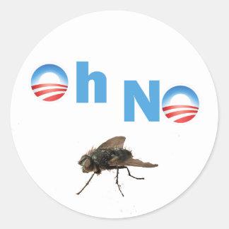 Barack Obama o assassino da mosca Adesivo