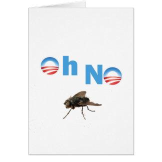 Barack Obama o assassino da mosca Cartão