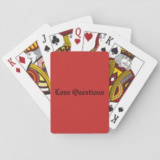 Baralho Ame cartões de jogo das perguntas, caras padrão do