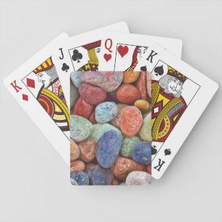 Baralho Cartão de jogo colorido das pedras