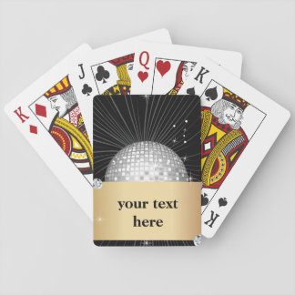 Baralho Cartões de jogo clássicos, bola do disco do brilho